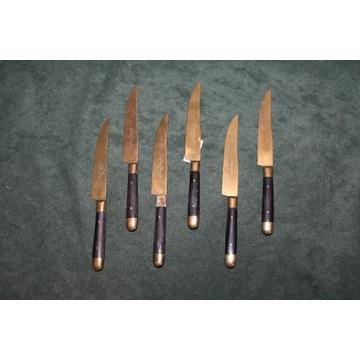 Noże nożyki do owoców z brązu lata 1900 FiaF
