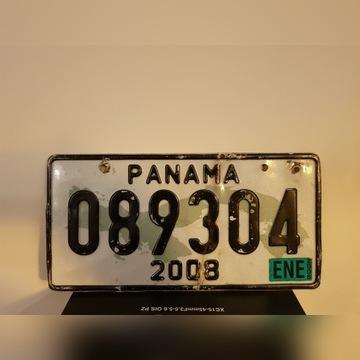 Tablica rejestracyjna Panama 2008