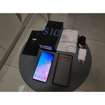 Samsung Galaxy S10 (SM-G973F/DS) niebieski + etui