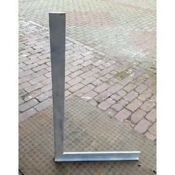 Kątownik stalowy ze stopką prosty 1000 x 630 mm