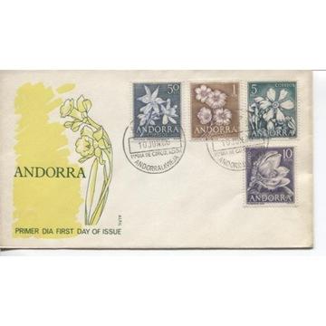 FDC ANDORRA 1966