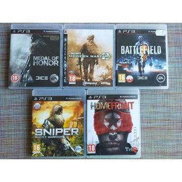 Gry na Playstation 3 używane MOH, COD, B3, S, H