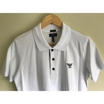 Męska koszulka polo Armani Jeans biała r. M