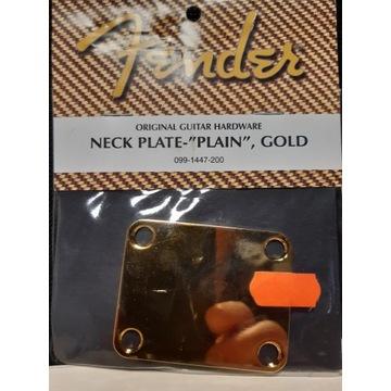 Fender Neck Plate Gold fabrycznie nowa