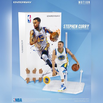 Stephen Curry 1/9 Enterbay Motion NBA GSW Warriors
