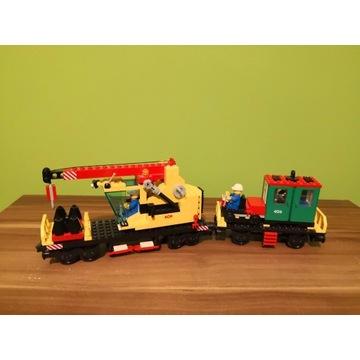 LEGO pociąg train 4552. Wagon naprawczy z dźwigiem