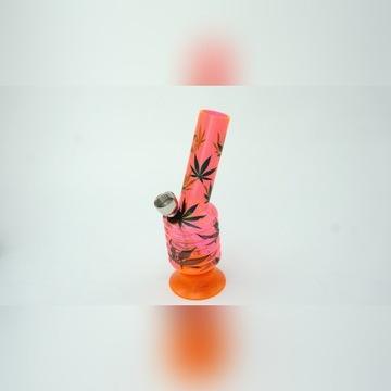 Fajka Wodna Bongo Akrylowe 15 cm PINK NEON