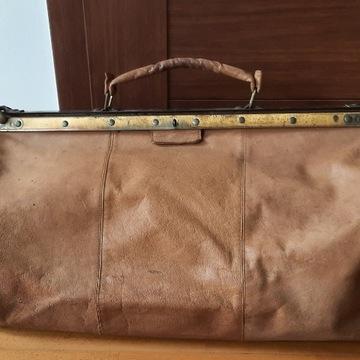 torba podróżna Picard, skórzana,  vintage