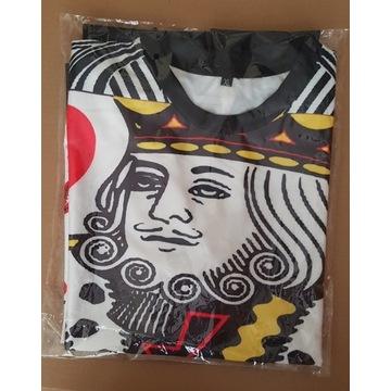 Piżama, męska L-XL, nadruk, świetna śmieszna, król