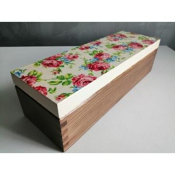 szkatułka, pudełko, herbaciarka prezent, decoupage