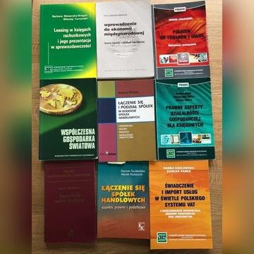 Zestaw książek Rachunkowość podatki, prawo