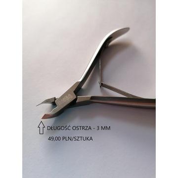 Profesjonalne cążki do skórek, Hanza, ostrze 3mm