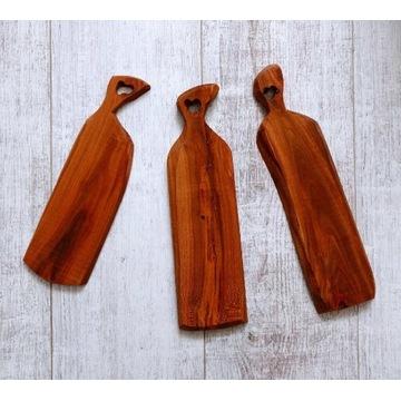 Deska do serwowania zestaw przekąski sushi drewno