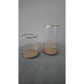 Lampion świecznik szklany