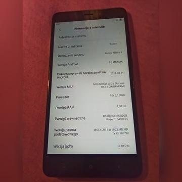Redmi note 4x 64 4GB Ram Mediatek MT6797 Helio X20