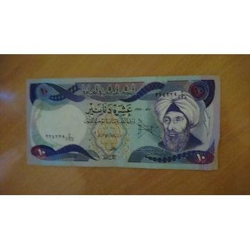 Irak 10 dinarów