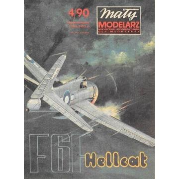 Mały Modelarz 4 1990 F6F Hellcat samolot model