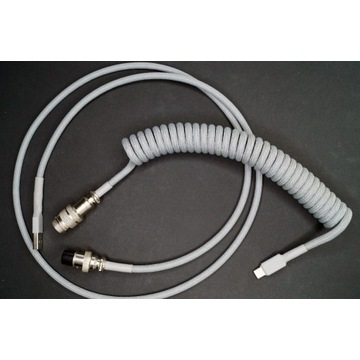 Kabel USB - USB Typ-C, coil, sprężyna Aviator,GX16