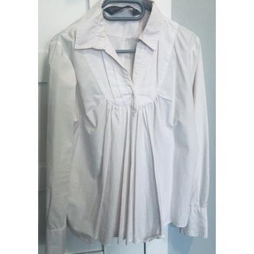 Biała koszulowa bluzka ciążowa ZARA r. L