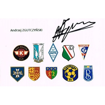 Andrzej ZGUTCZYŃSKI autograf LEGIA LECH GÓRNIK