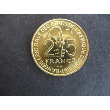 25 Fr.Francuska Afryka Zachodnia FAO Essai - Próba
