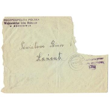 Rzeszów - Koperta z cenzurą nr 1385 z 1945 r