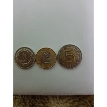 3 monety po denominaci