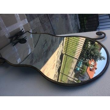 Metaloplastyka lustro, stolik oraz wieszak