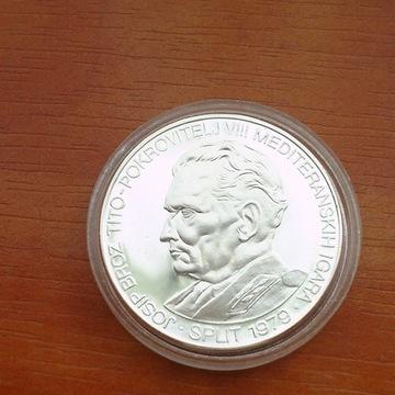 Jugosławia 250 dinarów 1979r Tito srebro