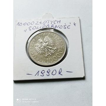 10000 Złotych ( Solidarność) z 1990 roku,MN.Ładna.