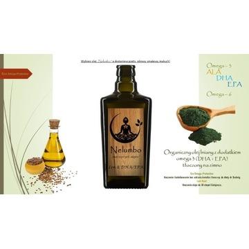 Olej lniany z dodatkiem omega 3 (DHA i EPA) Nowość