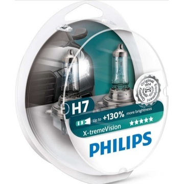 PHILIPS H7 X-TREME VISION set 2x +130% 12972XV+S2