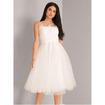 Biała sukienka chi chi london rozm. 34 na ślub