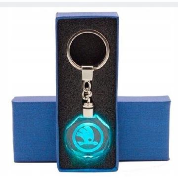 Brelok LED Skoda + pudełko prezentowe