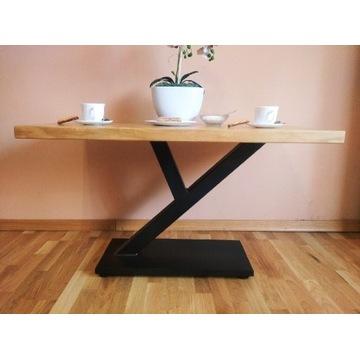 Stolik kawowy loft styl Dąb-stal industrial