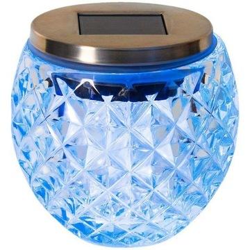 Szklana lampa solarna 2 tryby świecenia MASYWNA!