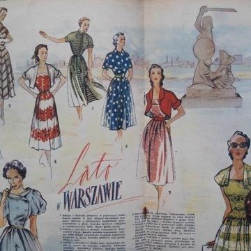 MODA LATO 1953 WARSZAWA Pin-up girl - dla stylisty