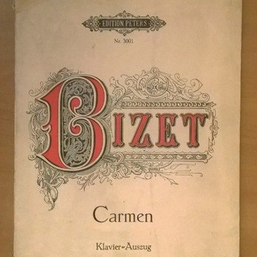 Carmen Bizet wyciąg fortepianowy i partie wokalne