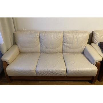Sofa 3-miejsc. z funkcją spania, 2 fotele, ława