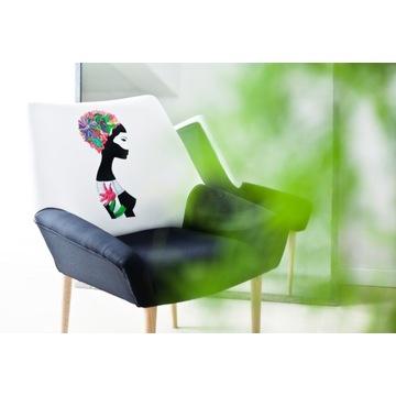 Nowoczesny Fotel / Krzesło / Czarny /Biały / Uszak
