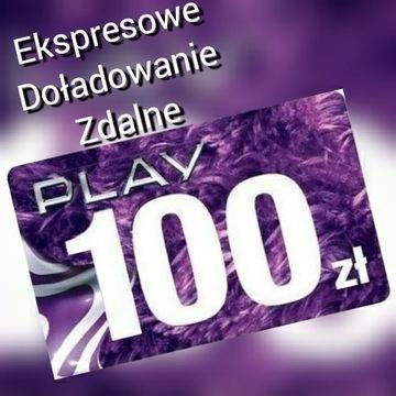 Expresowe doładowanie telefonu Play za 100 zł