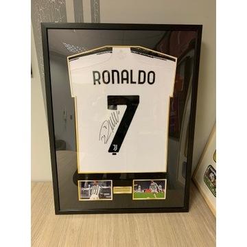 Koszulka Autograf Podpis Ronaldo Juventus prezent