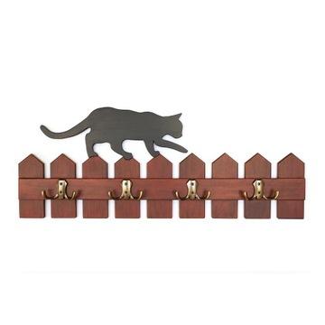 Wieszak - Kot na Płocie