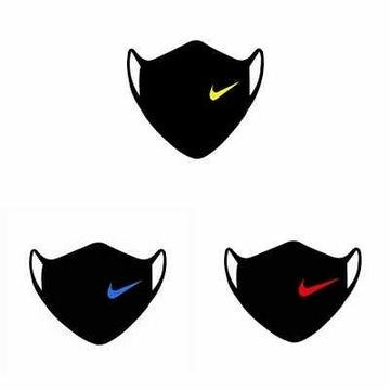 Maska Maseczka antysmogowa bawełniana czarna Nike