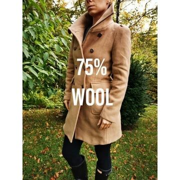 Płaszcz ZARA - 75% WOOL