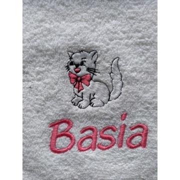 Ręcznik 30x50 z haftem imienia Basia upominek