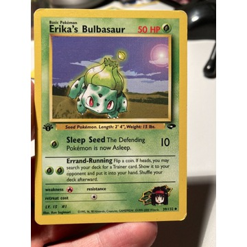 Pokemon karta Erika's Bulbasaur 39/132 1st edition