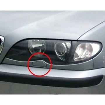 Zaślepki spryskiwacza BMW E46 L i P. Xenon.