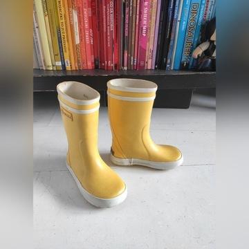 żółte kalosze dziecięce marki Aigle - r. 24