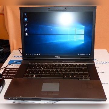 """Laptop Fujitsu 15,4"""" C2D 2x2,53 Ghz 3gb ddr3 160gb"""